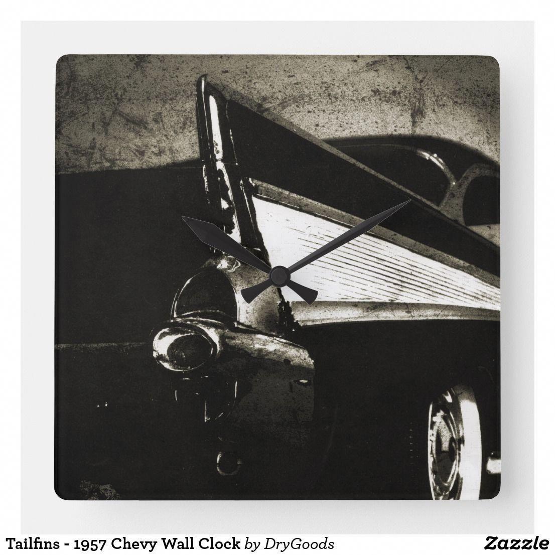Tailfins 1957 Chevy Wall Clock 57 Chevy Bel Air Auto Repair Chevy Bel Air