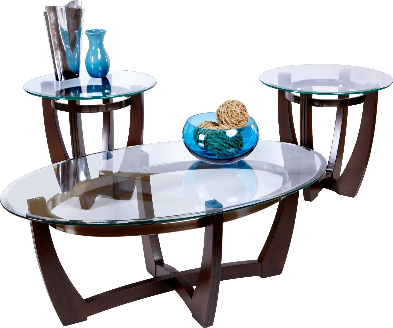 Haverhill walnut 3 pc table set living room table sets