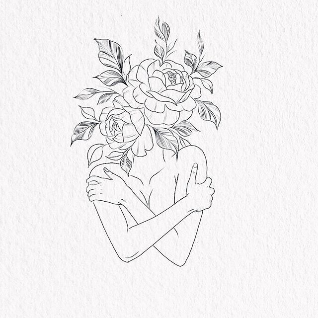 Photo of Guadalupe • Fineline Tattoo • sur Instagram: «Self love ⚡️ # love #selflove #hugyourself #hug #selflovetattoo #girltattoos #girlytattoo #body #bodytattoo #girls #feminist # floraltattoo…»