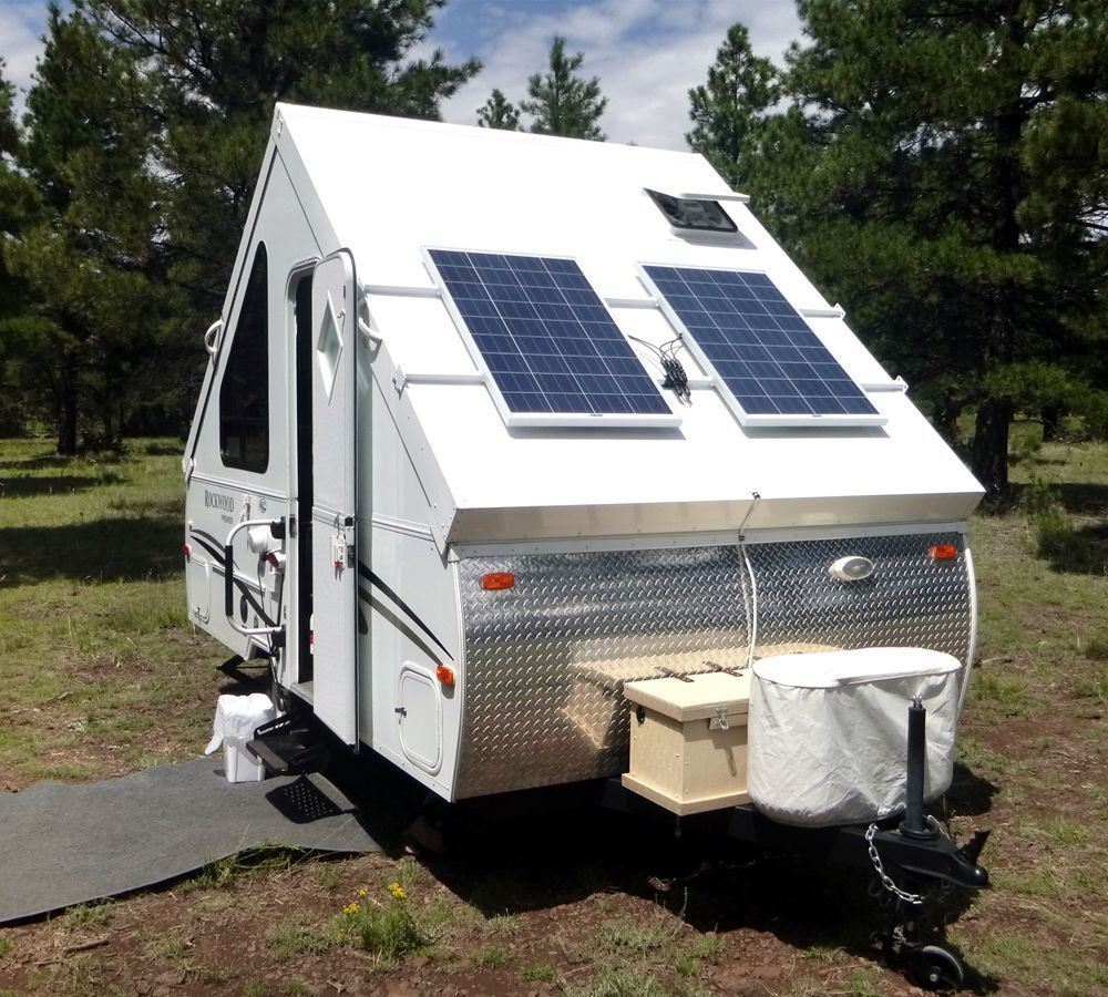 200 Watts solar on my A-Frame - Forest River Forums | pop up camper ...