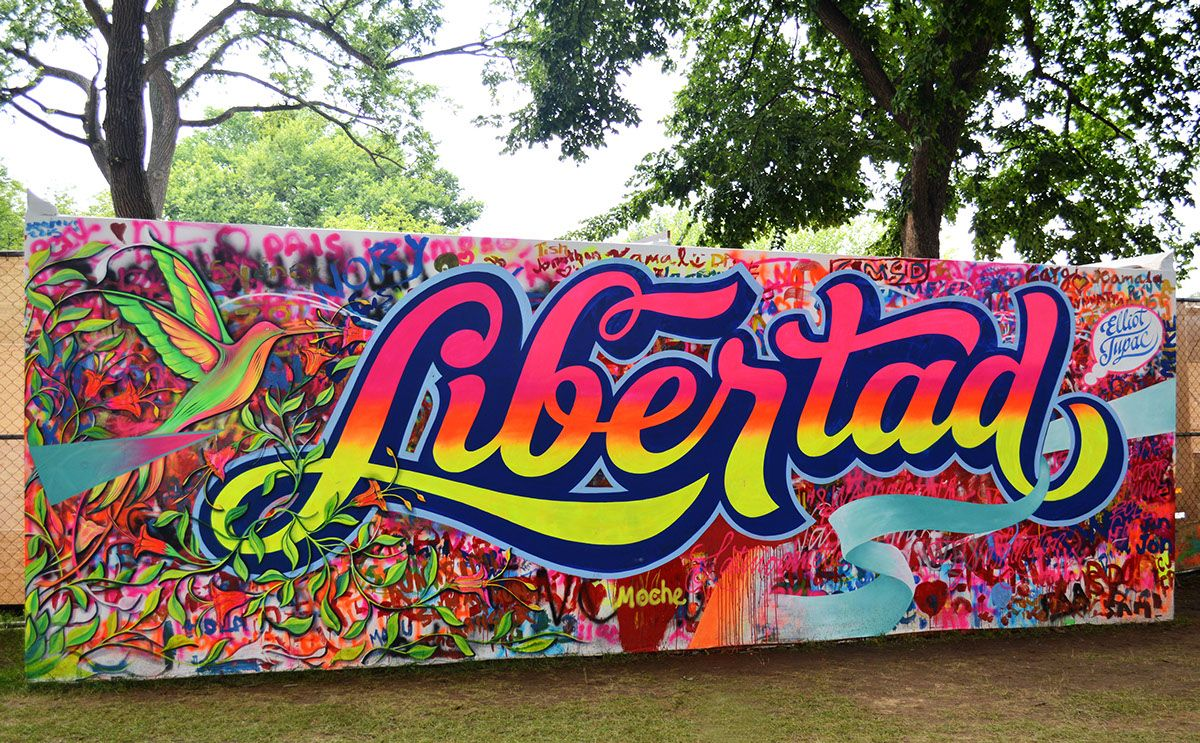 Bien-aimé Libertad - Lettering, spray and brush. on Behance | Typography  BV69