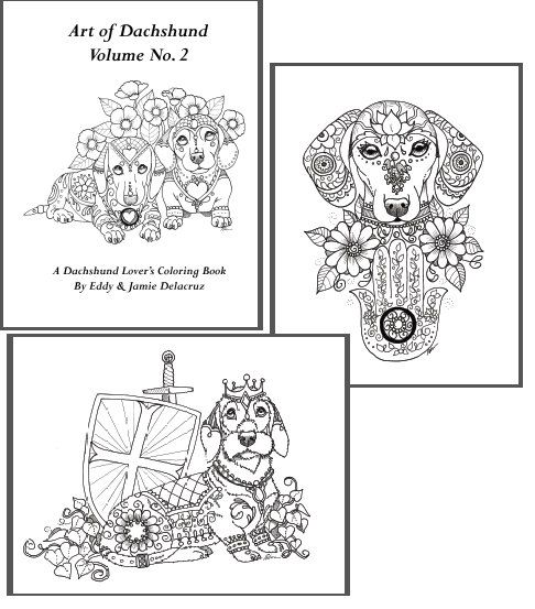 Art of Dachshund Coloring Book Volume No.2 - Downloadable Version ...