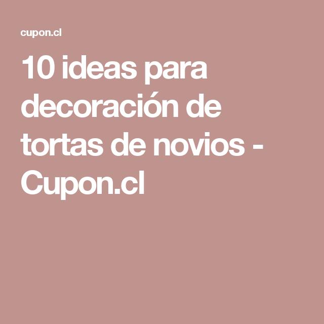 10 ideas para decoración de tortas de novios - Cupon.cl