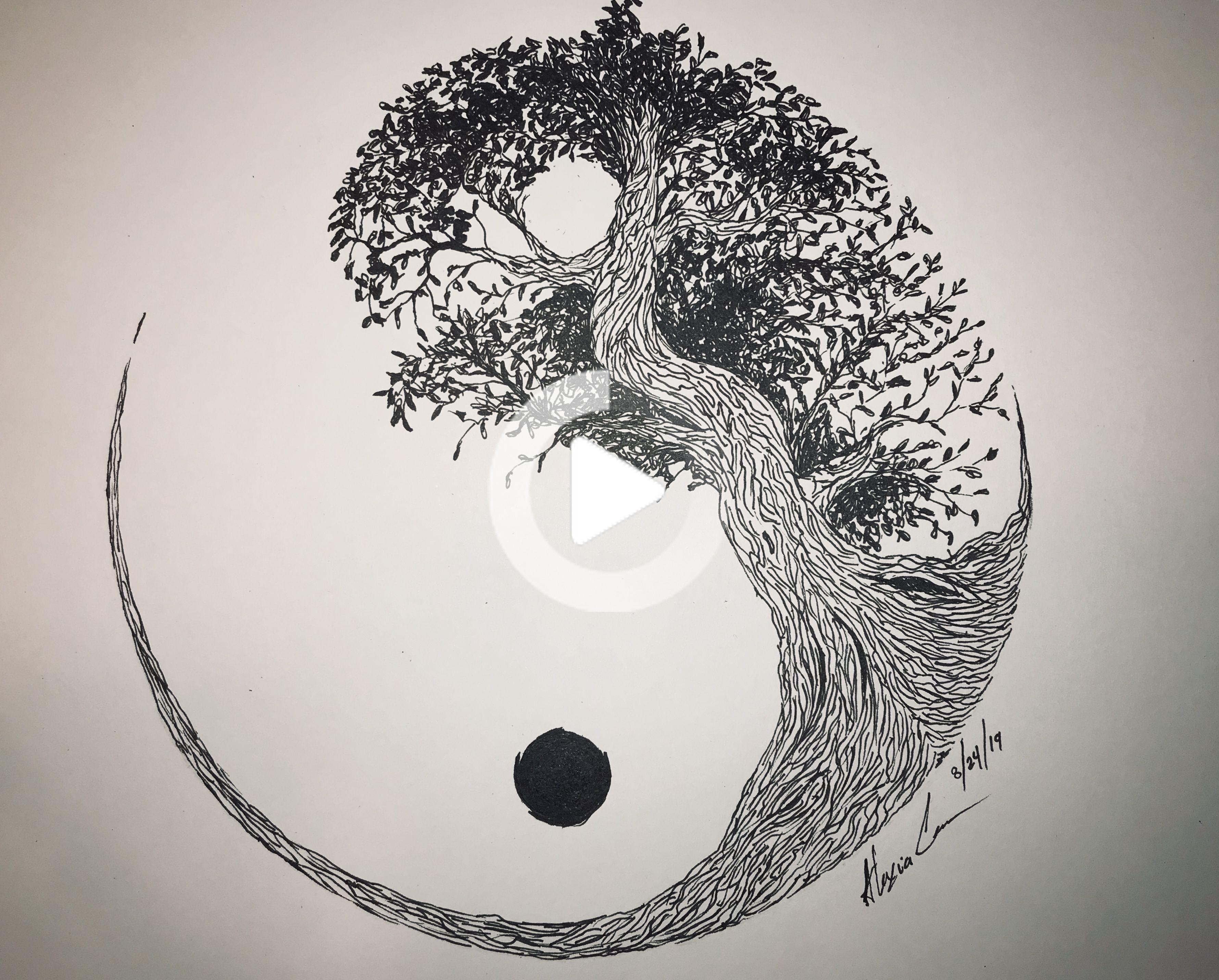 yin yang in pen  youtube  japanese tattoo women yin