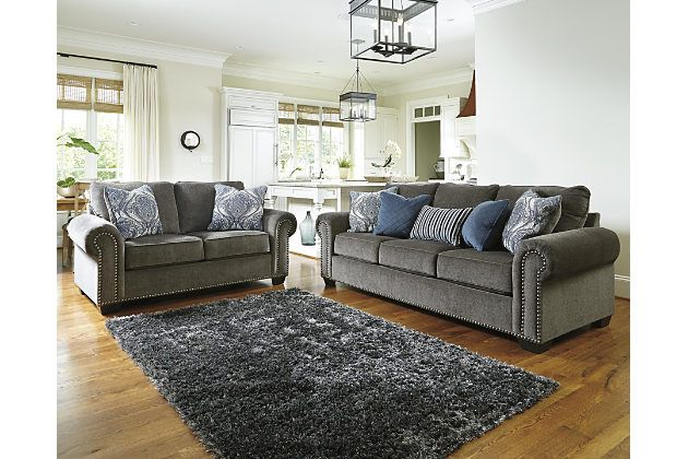 Navasota 5 Piece Living Room Set By Ashley Homestore Gray 5