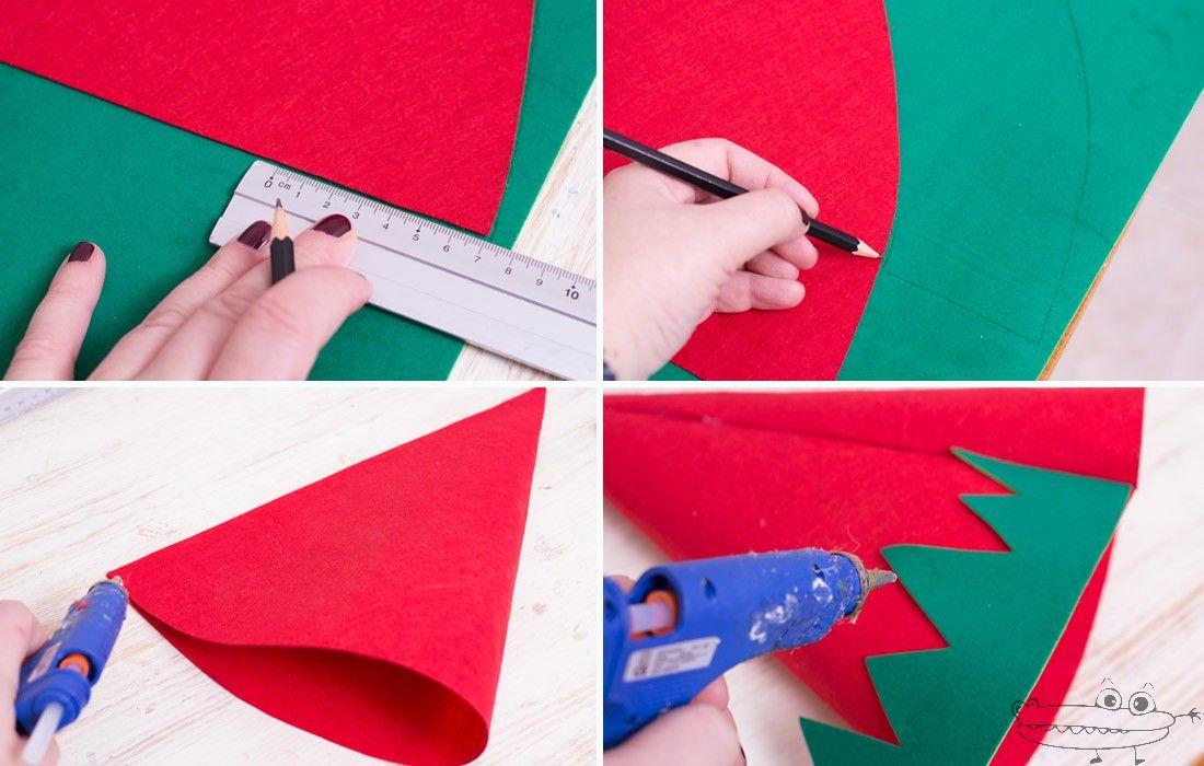 Manualidades Gorros De Navidad.Gorro De Elfo De Fieltro Sin Coser Fieltro Manualidades