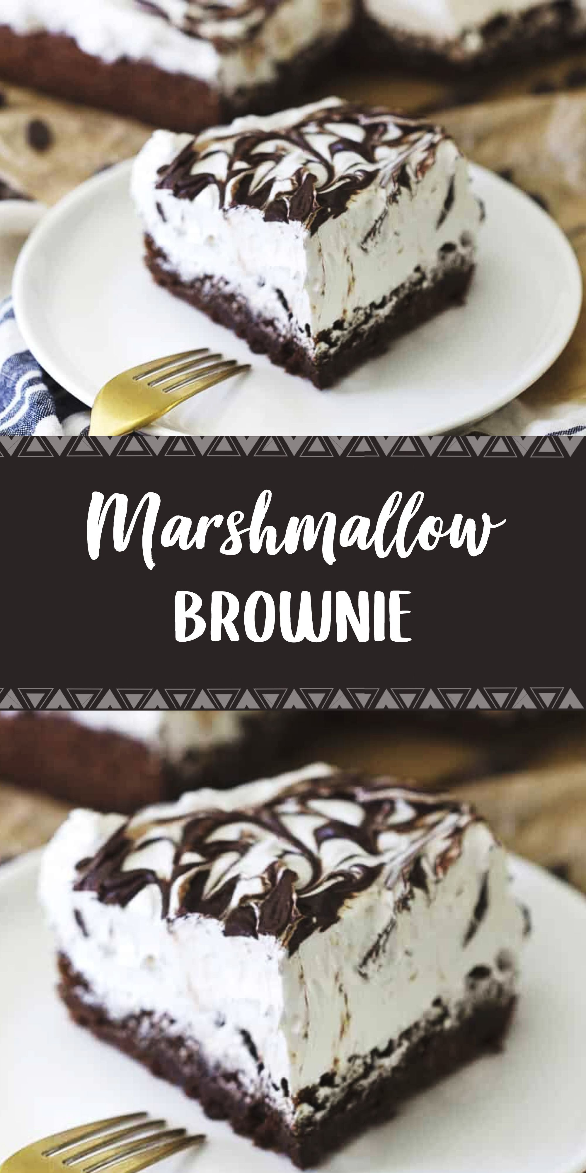 Marshmallow Brownie In 2020 Dessert Recipes Party Food Dessert