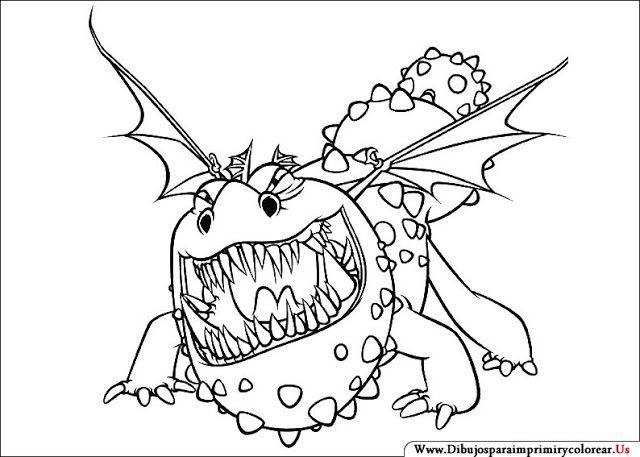 Dragones Feroces Para Colorear: Dibujos De Cómo Entrenar A Tu Dragón Para Imprimir Y