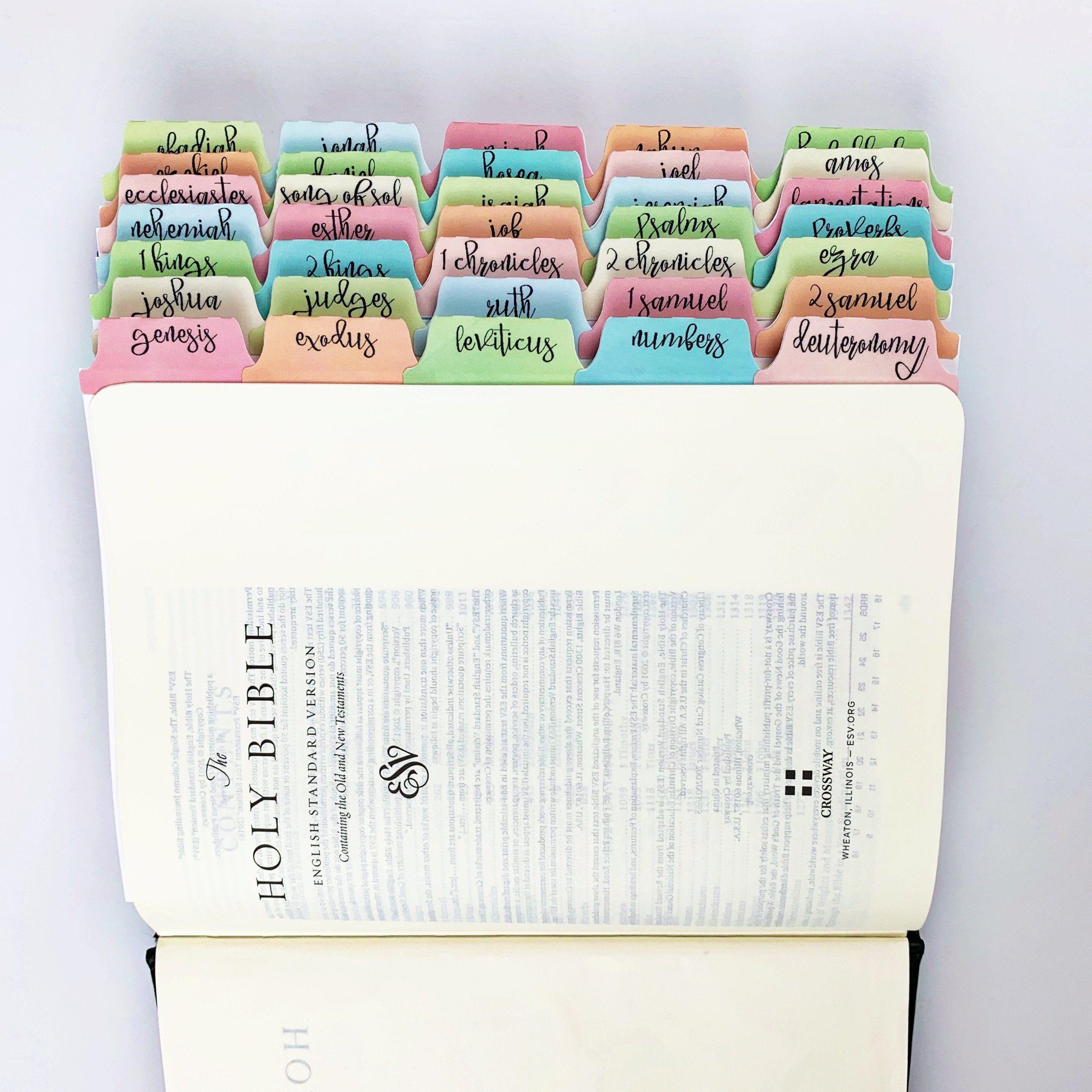 Pin On Bible Book Name Tabs