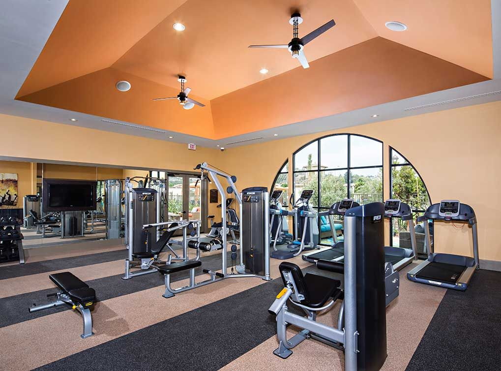 State of the art fitness center at amli spanish hills luxury