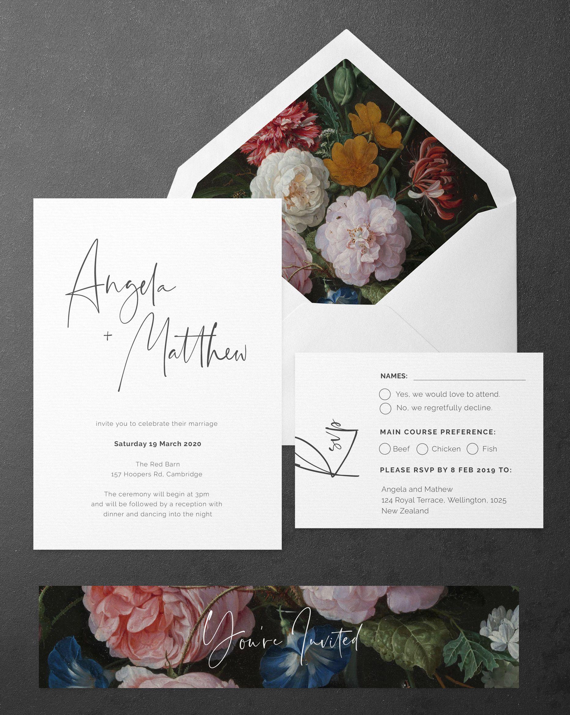Signature Wedding Invitations And Stationery Wedding Invitations Minimal Wedding Invitation Wedding Invitations Stationery
