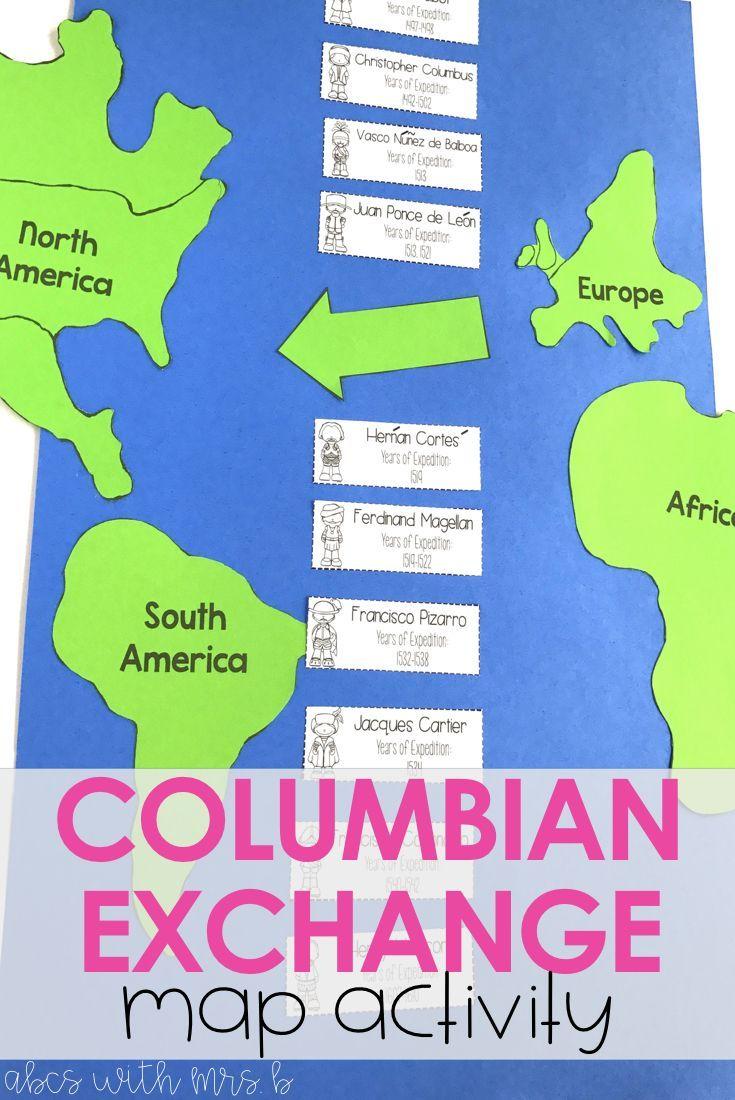 worksheet The Columbian Exchange And Global Trade Worksheet new world explorer research columbian exchange social studies exchange