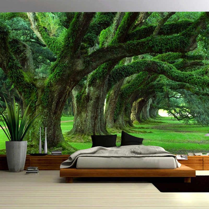 Spatial Extension Personality Wall Mural Wallpaper Green