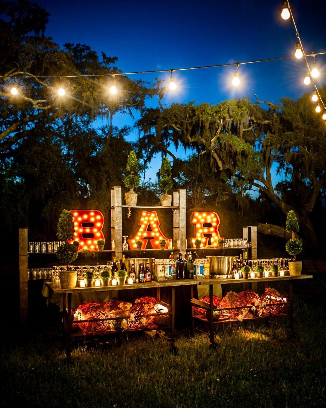 How to Create an Open Bar for the DIY Bride   Backyard wedding ...