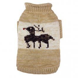 Süßer Hundepulli mit Rentier. Dog sweater with reindeer.