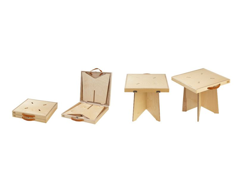1 Table Pliable Sugao Chez Merci Meuble En Carton Table Pliable Mobilier De Salon