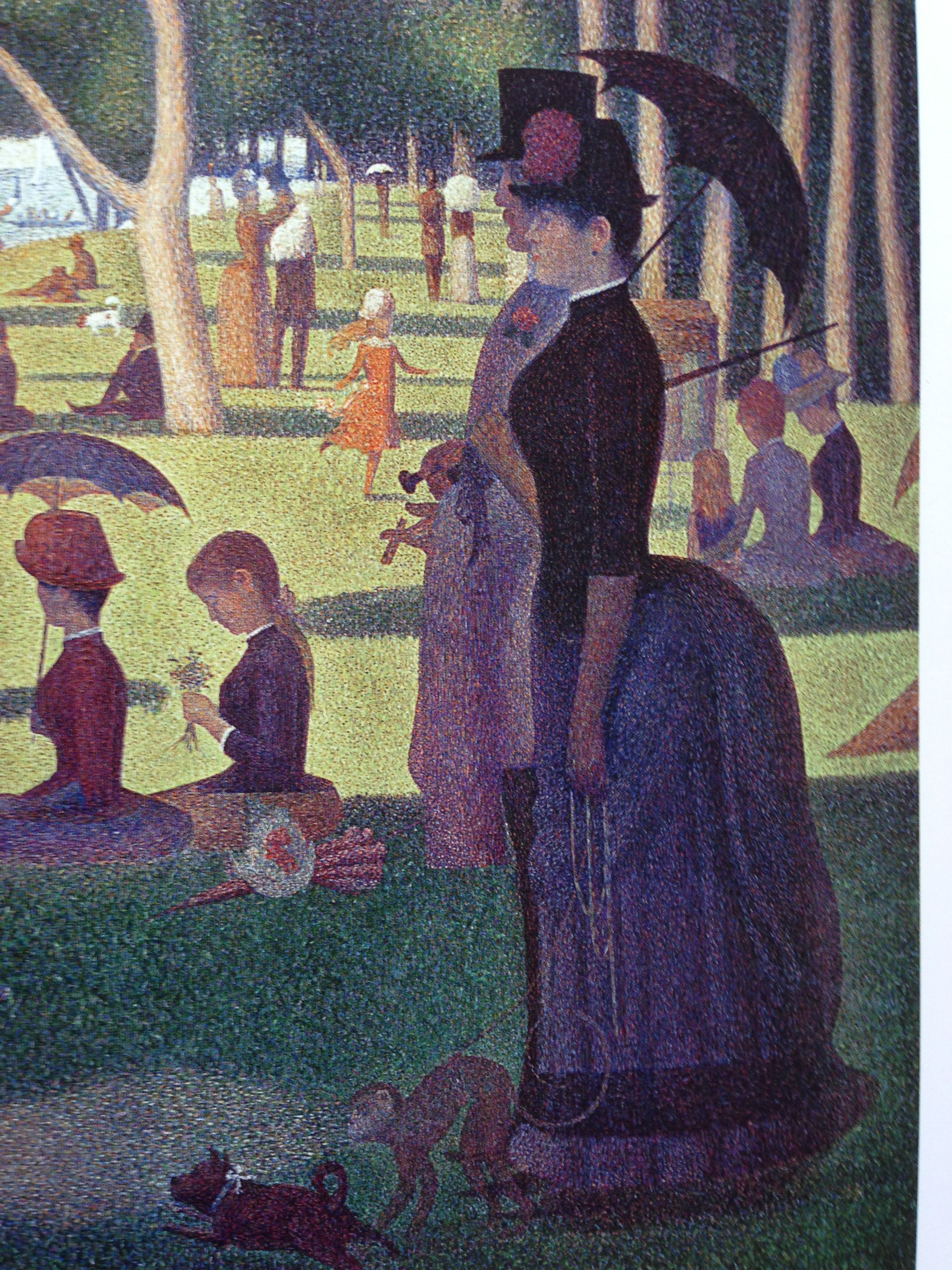 George Seurat Sunday Afternoon Close