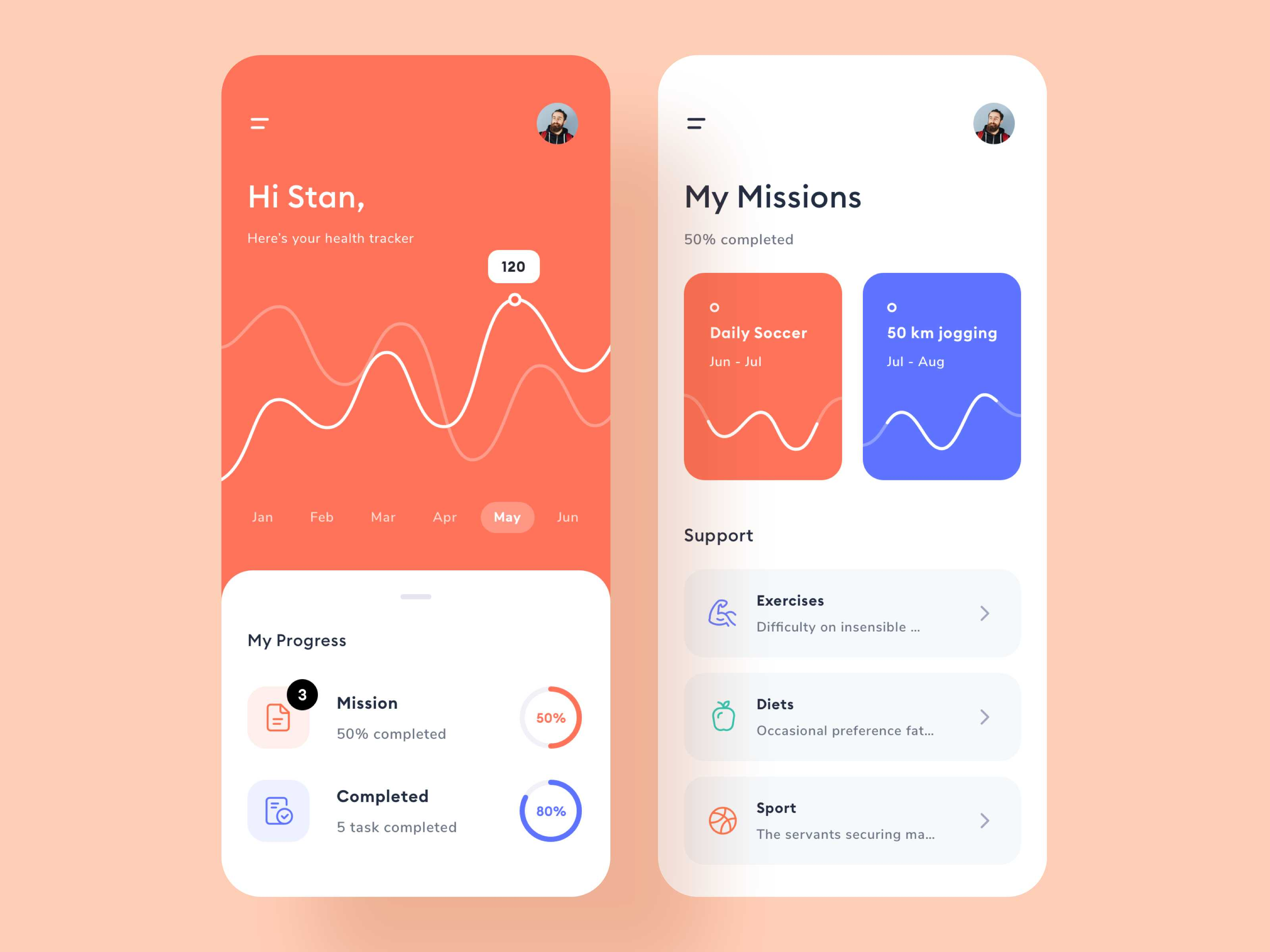 Health tracking app App design, Tracking app, Health app