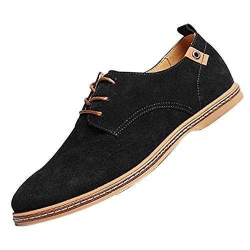 SODIAL (R) NUEVOS zapatos de gamuza de cuero de estilo europeo oxfords de los hombres casuales Azul(tamano 41) umCSekLJv