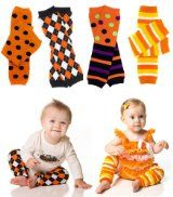 Amazon.com: (Candy Corn Stripe) Halloween Baby & Toddler Leg Warmers by juDanzy for boys & girls: Clothing