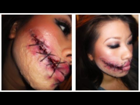 SILENCED GIRL - Stitched Chelsea Smile (Halloween Tutorial ...