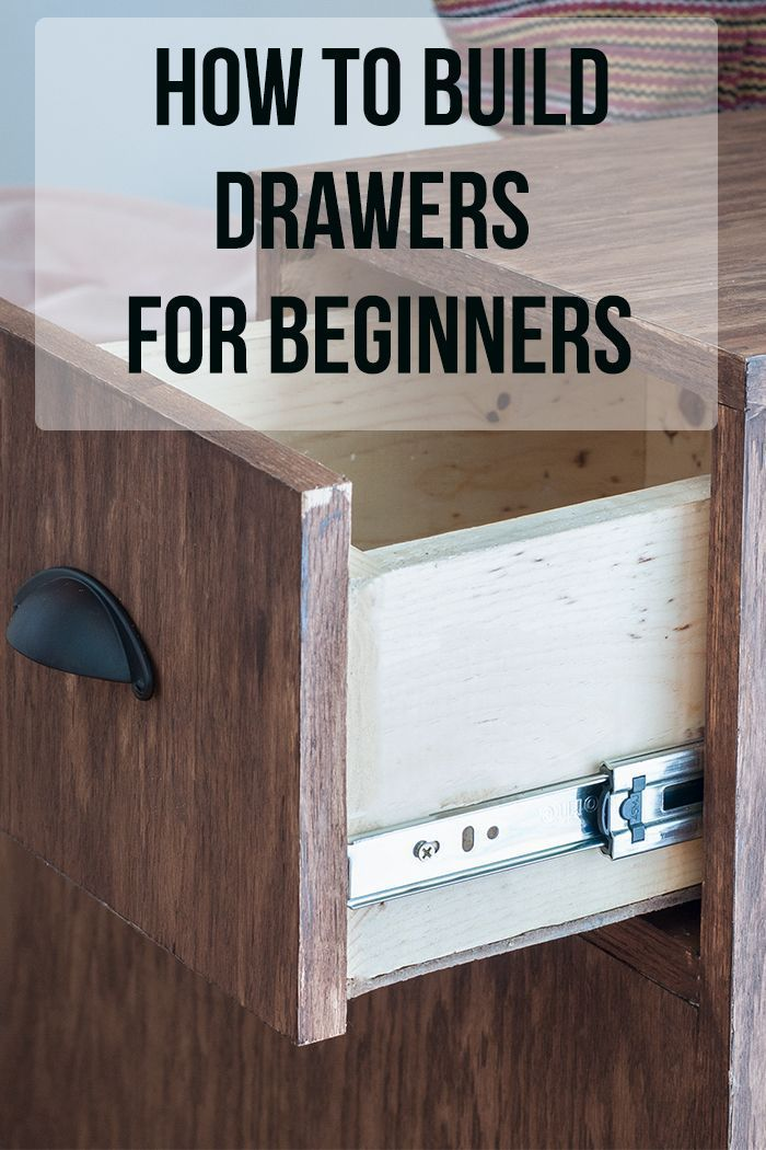 Great tips and tricks! Perfect guide for a beginner! How to build drawers for a beginner! They are not that hard!