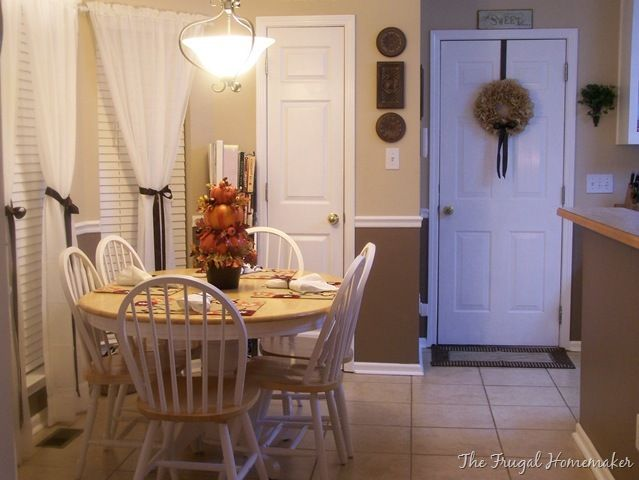 Day 31– 10 tips to a beautiful home - The Frugal Homemaker | The Frugal Homemaker  Do curtains like this for sliding door
