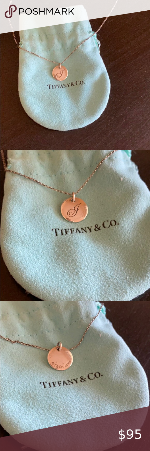 "J And Co Jewelry : jewelry, Initial, Charm, ""J"", Tiffany, Necklace, Necklace,, Charm,"