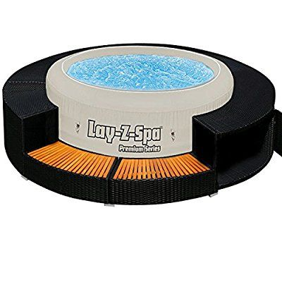 XXL Jacuzzi Whirlpool Umrandung Polyrattan Pool Rahmen ...
