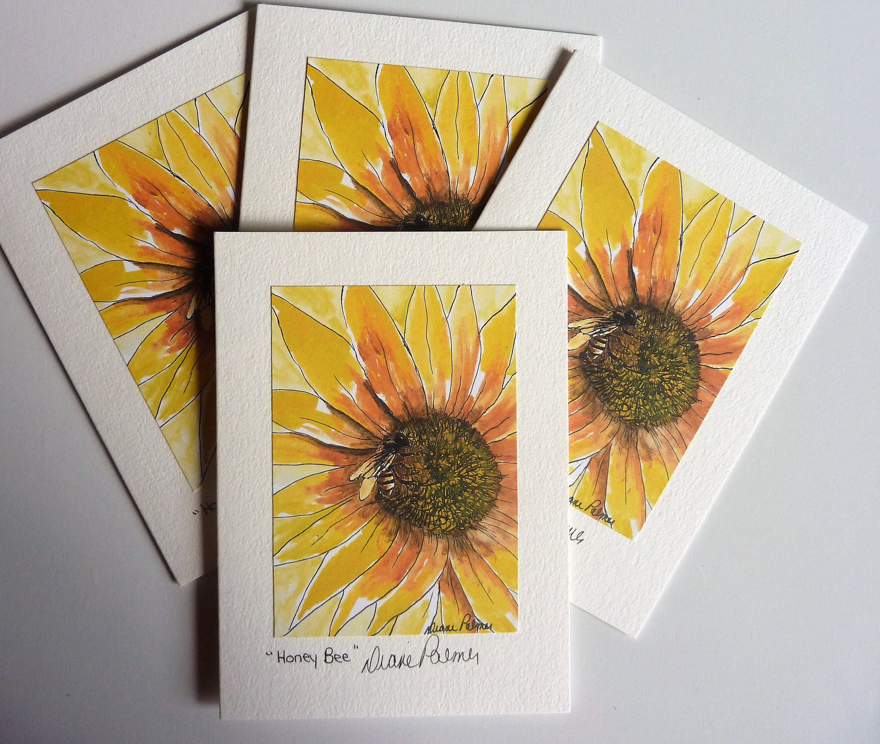 5 X 7 Honey Bee Art Print Note Cards Art Print Greeting Cards