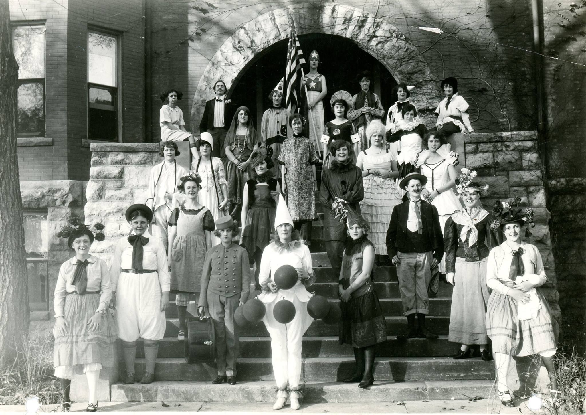 halloween at christian college in columbia, mo; now, columbia