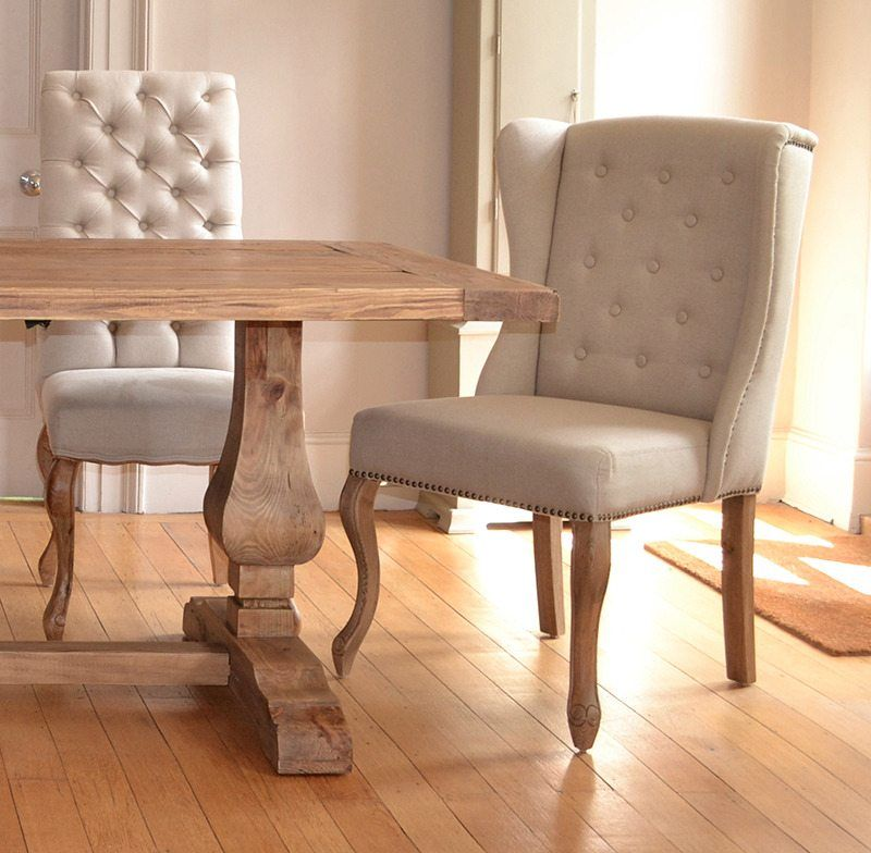 32 Stylish Dining Room Ideas To Impress Your Dinner Guests: Belvedere Weathered Oak Dining Table