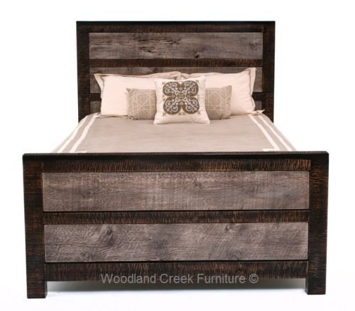 Reclaimed Gray Wood Bed Available At Woodland Creek Furniture