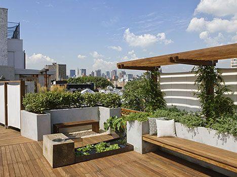 Flores y plantas en decoraciones de terrazas en New York JARDINES - decoracion de terrazas con plantas