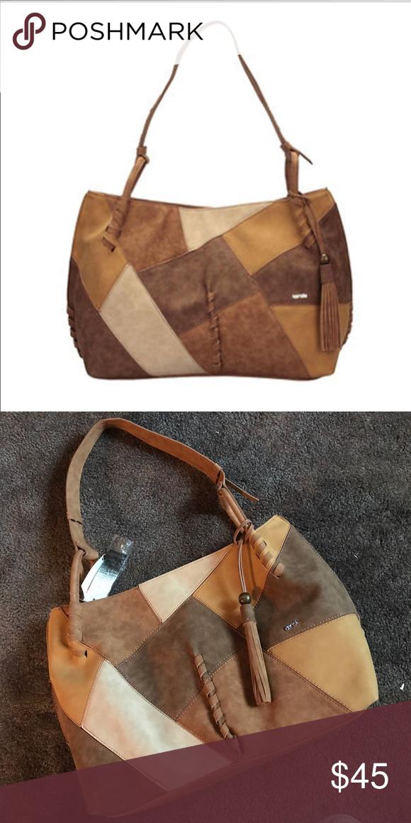 Kensie Canberra Hobo Handbag Huge Firm Gorgeous Neutral Bag Trade Value