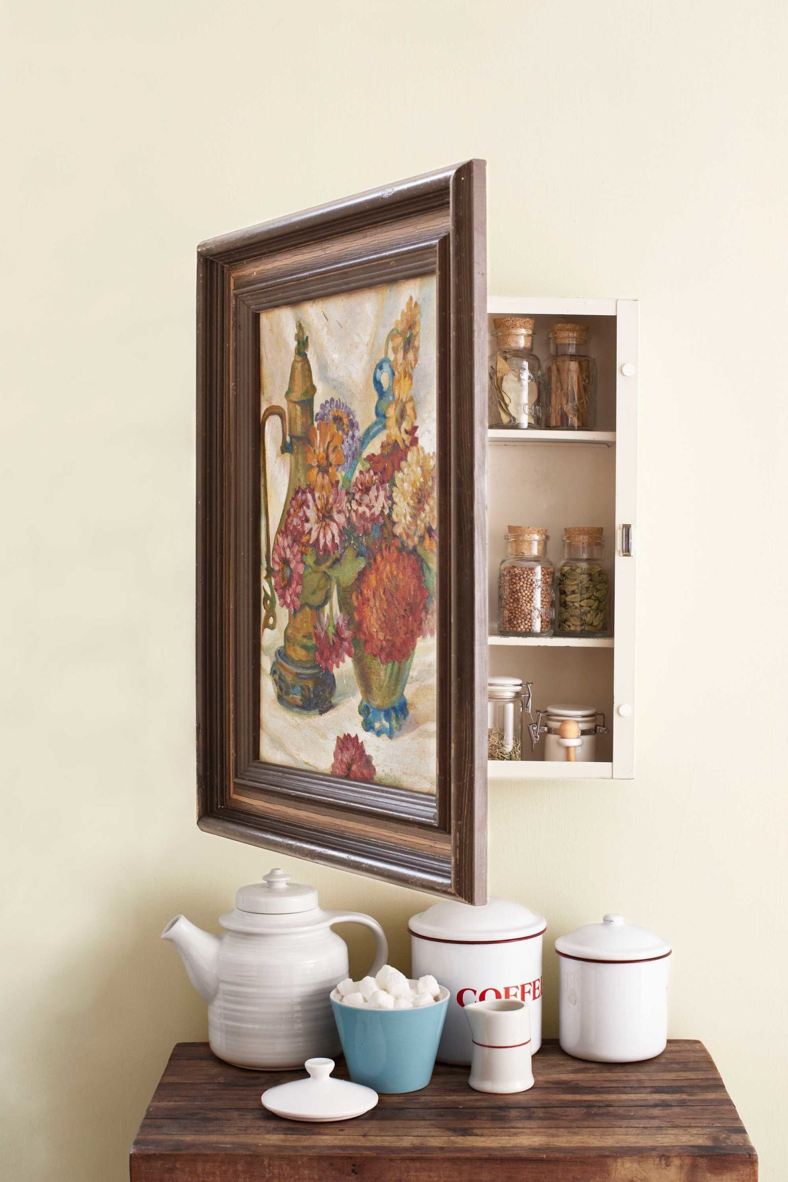Turn A Thrifted Piece Of Art Into A Useful Storage Space. What A Neat  Organization Idea And It Is Inexpensive Too!