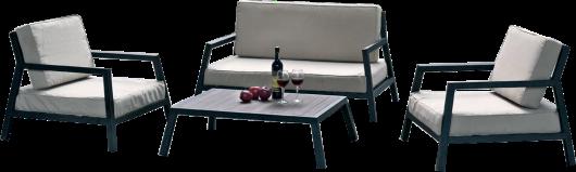 Petit salon de jardin 4 places, le MODENA offre des assises ...