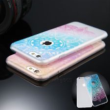 Pattern Rubber Soft TPU Silicone Phone Back Clear Case Cover For Various Phone