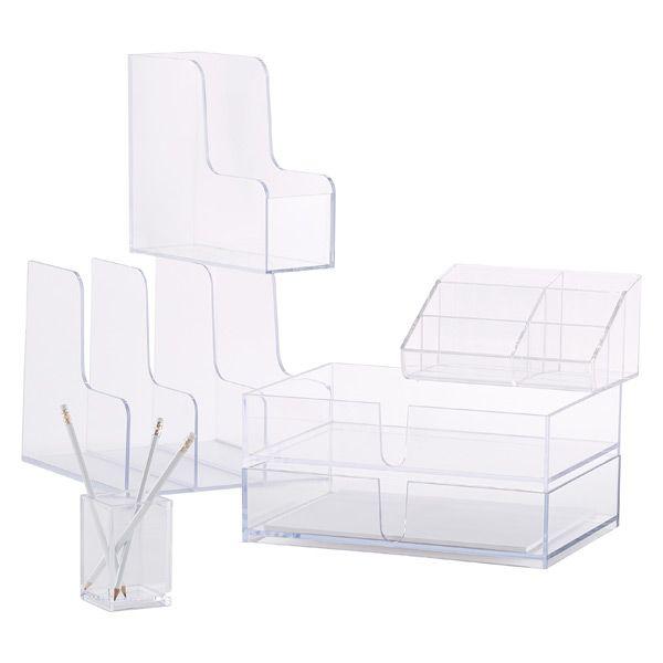 Acrylic Desk Accessories Love Clear Desk And Organization Stuff