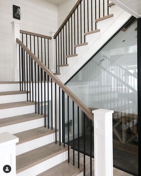 Stair Ideas...white Front With Light Wood Top And Straight