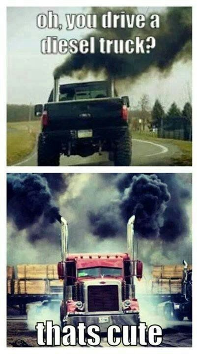 Truck Quotes Oh You Have A Diesel Truck That's Cute#trucking #tractortrailer .