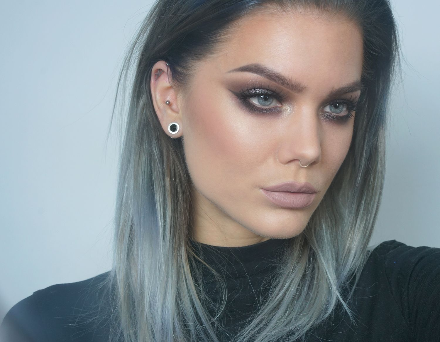 【ρinterest: ⚜ LizSanez✫☽】     //♡ Linda Hallberg Makeup - gun metal