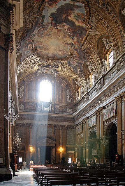 First conceived in 1551 by saint ignatius of loyola the for Interior designer roma