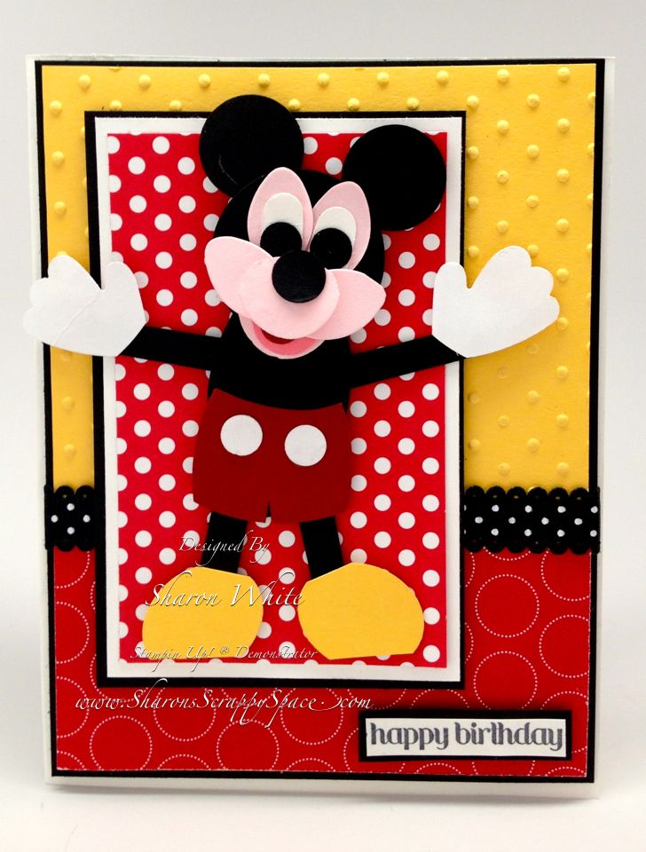 Mickey Mouse Punch Art Stampin' Up! Punches | birthday card ...