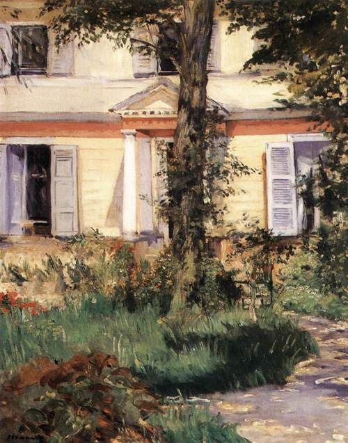 Edouard Manet House at Roueil 1882, Oil on canvas, 92 x 73 cm, National Gallery of Victoria, Melbourne