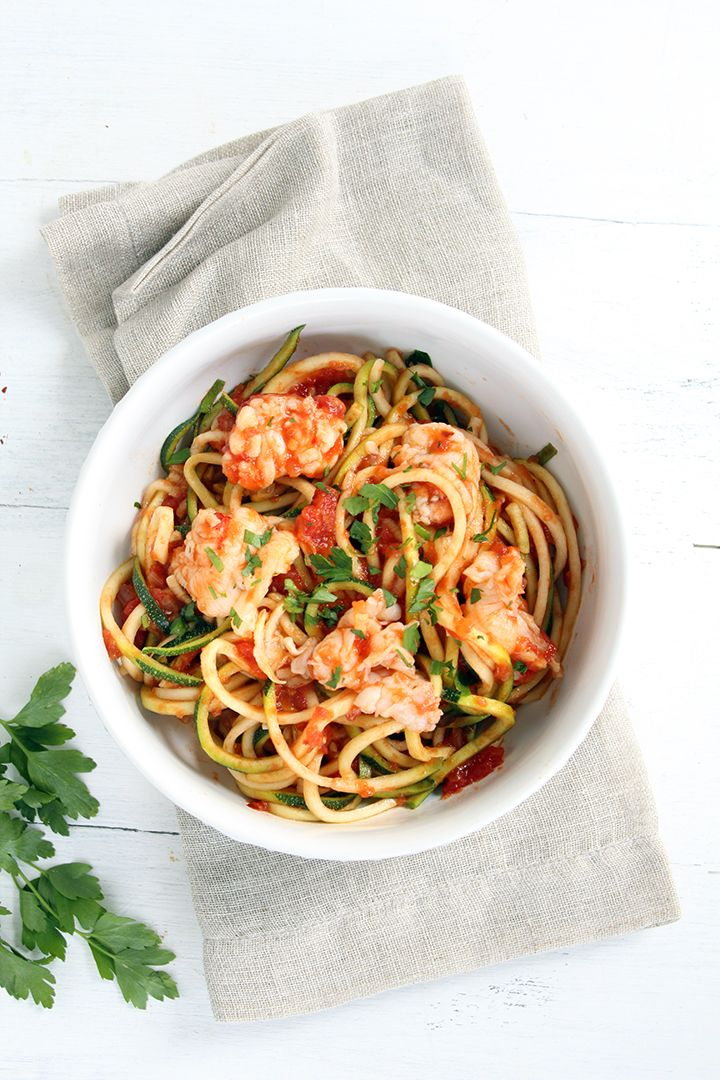 Lobster Tail Fra Diavolo with Zucchini Noodles   Recipe ...