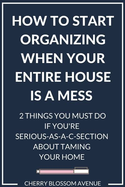 The Secret to Organizing When You Don't Know Where to Start — t.His | Rock This Revival #declutter