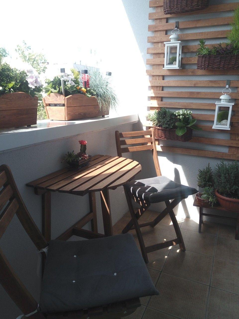Balkon W Bloku Maly Balkon Home Decor Balcony Decor Indoor Design
