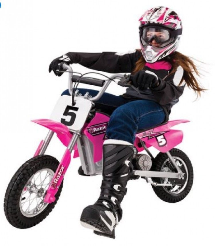 Electric Motocross Dirt Bike Pink Off Road Riding Sports Kids Motorcycle 24 Volt Razor Motocross Bikes Kids Motorcycle Motocross