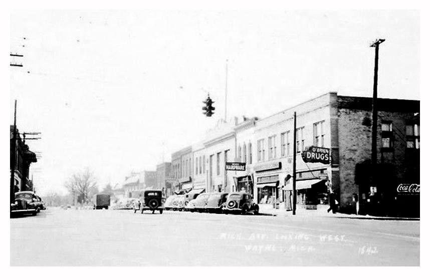 Main st wayne circa 1940 michigan historical society